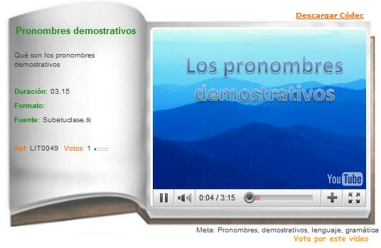 Pronombres demostrativos | Recurso educativo 36349