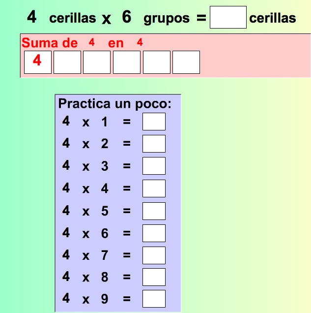 Las tablas de multiplicar | Recurso educativo 37954