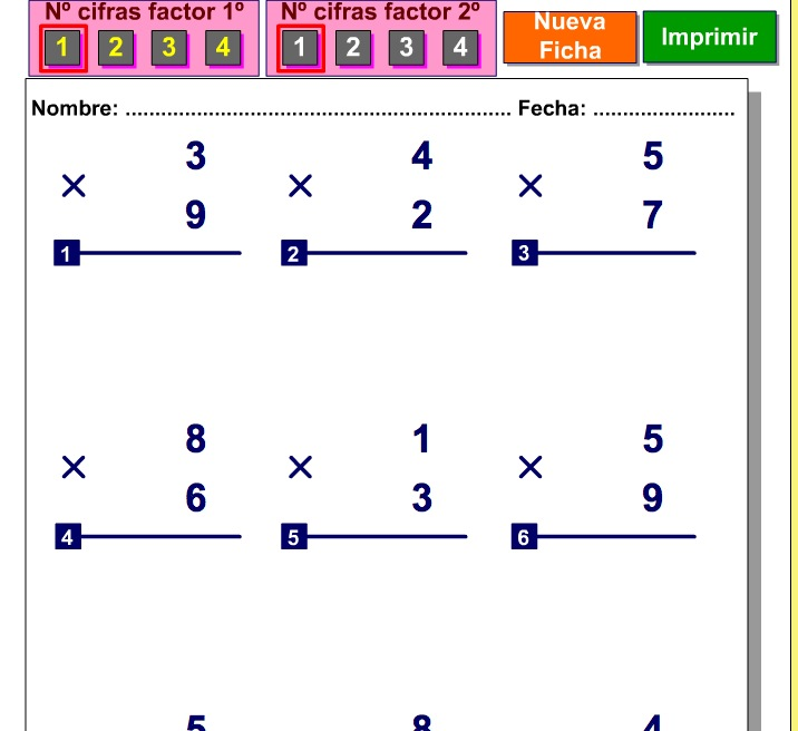 Multiplicaciones | Recurso educativo 38495