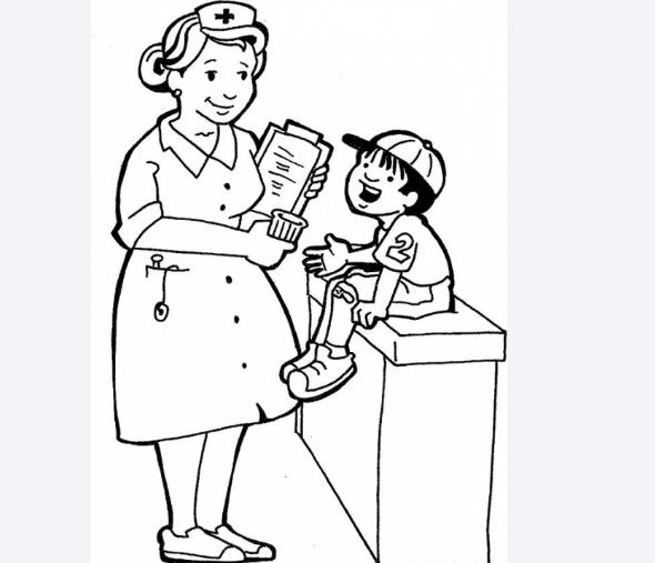 Dibujo para colorear sobre el dia de la enfermera de la enfermera ...
