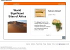 World Significant Sites of Africa | Recurso educativo 42151