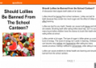 Should lollies be banned from the school canteen? | Recurso educativo 54152