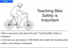 Teaching bike safety is important | Recurso educativo 54404