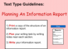 Planning an information report | Recurso educativo 54525