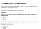 Television and the media quiz | Recurso educativo 61316