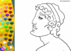 ¡A Colorear!: Busto griego | Recurso educativo 27367