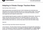 Adapting to climate change: Teachers notes | Recurso educativo 77537