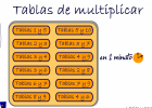 Tablas de multiplicar | Recurso educativo 736755
